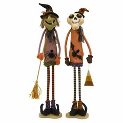 Tall Halloween Standing Witch and Ghost (Set of 2) - IMAX - 57344-2