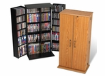 Tall Locking Media Storage Cabinet in Black - Prepac Furniture - BVS-0205