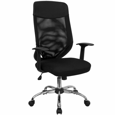 Tall Mesh Office Chair with Mesh Back and Mesh Fabric Seat - LF-W952-GG