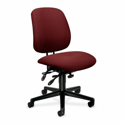Tall Office Chair - Burgundy/Black Frm - HON7708AB62T