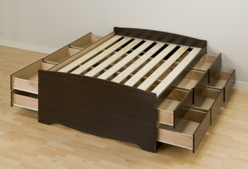Tall Full Size Platform Storage Bed - Prepac Furniture - EBD-5612