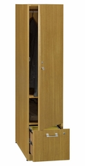 Tall Storage Tower - Quantum Modern Cherry Collection - Bush Office Furniture - QT288FMC