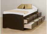 Tall Twin Size Platform Storage Bed - Prepac Furniture - EBT-4106