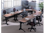 Talon Tables Package in Pearwood - Mayline Office Furniture