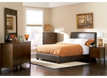 Tamara California King Size Bedroom Furniture Set in Walnut - Coaster - 201150KW-BSET