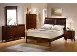 Tamara California King Size Bedroom Furniture Set in Walnut - Coaster - 201151KW-BSET