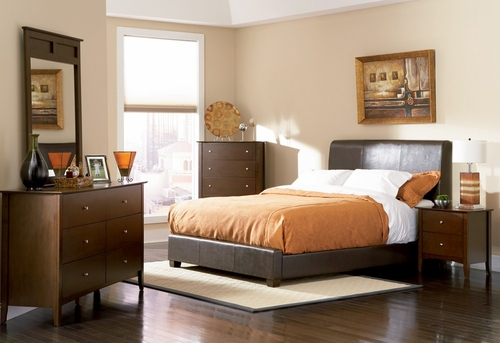 Tamara Eastern King Size Bedroom Furniture Set in Walnut - Coaster - 201150KE-BSET