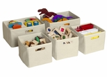 Tan Storage Bins (Set of 5) - Guidecraft - G86200