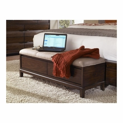 Tangerine 335 Walnut Bed Bench - Pulaski