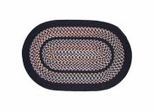 Tapestry Black Braided Rugs - Rhody Rug