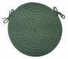 "Tapestry Hunter Green 15"" Braided Chair Pad - Rhody Rug - TA-2215CPHG"