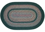 Tapestry Hunter Green 2'x3' Braided Rug - Rhody Rug - TA-2223HG