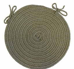 "Tapestry Moss 15"" Braided Chair Pad - Rhody Rug - TA-6215CPMO"