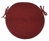 "Tapestry Red Wine 15"" Braided Chair Pad - Rhody Rug - TA-4215CPRW"