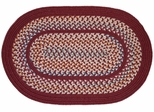 Tapestry Red Wine 8' Round Braided Rug - Rhody Rug - TA-428RDRW