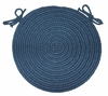 "Tapestry Sailor Blue 15"" Braided Chair Pad - Rhody Rug - TA-1215CPSB"