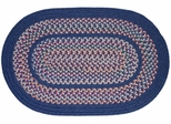 Tapestry Sailor Blue 8' Round Braided Rug - Rhody Rug - TA-128RDSB