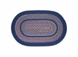Tapestry Sailor Blue Braided Rugs - Rhody Rug