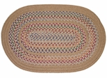 Tapestry Wheat 8' Round Braided Rug - Rhody Rug - TA-528RDWH