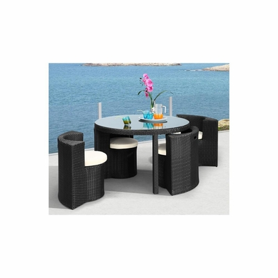 Tarfia Outdoor Table Set in Espresso - Zuo