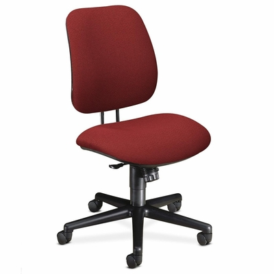 Task Chair - Burgundy/Black Frame - HON7702AB62T