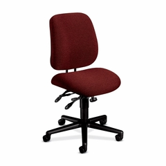 Task Chair - Burgundy/Black Frame - HON7707AB62T