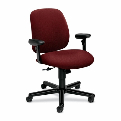 Task Chairs w/ Arms - Burgundy - HON7754AB62T