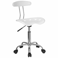 Task Office Chair in White - LF-214-WHITE-GG