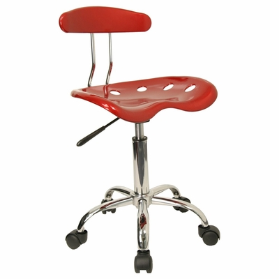 Task Office Chair in Wine Red - LF-214-WINERED-GG