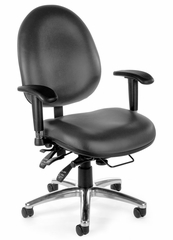 Task Office Chair - Vinyl 24 Hour Computer Task Chair Hi-back - OFM - 247-VAM