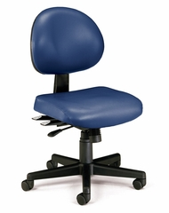 Task Office Chair - Vinyl 24 Hour Computer Task Chair - OFM - 241-VAM