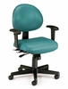 Task Office Chair - Vinyl 24 Hour Computer Task Chair with Arms - OFM - 241-VAM-AA