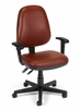 Task Office Chair - Vinyl Posture Task Chair with Arms - OFM - 119-VAM-AA