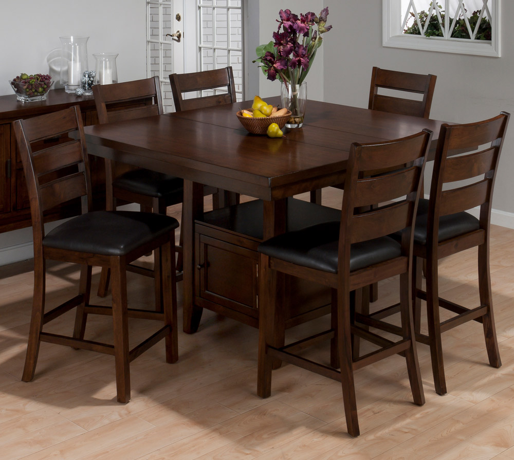 taylor 7pc counter height dining set in brown cherry 337 54 3
