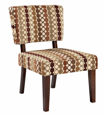 Taylor Accent Chair - Rings Earth Tone - Linon Furniture - 36080RNG-01-KD-U