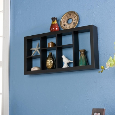SEI Taylor Display Shelf Black 24