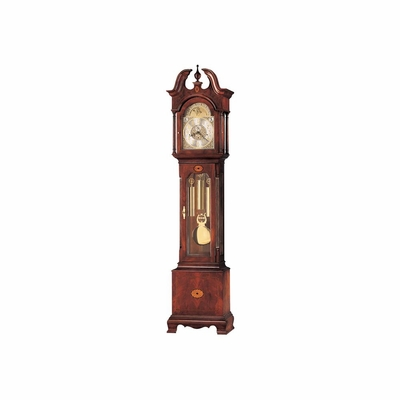 Taylor Grandfather Clock in Windsor Cherry - Howard Miller