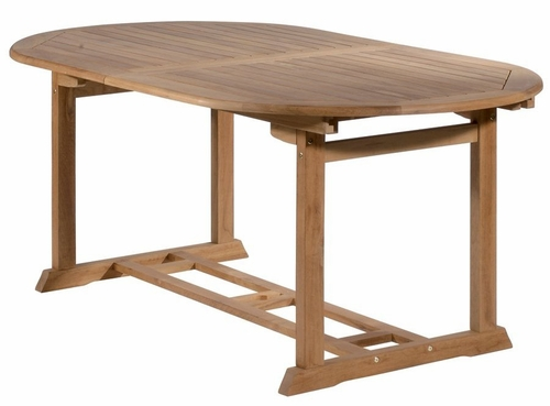 Teak Oval Table with Single Extension - Antonini Outdoor - NT02000
