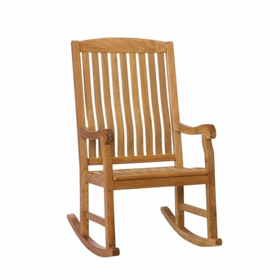 SEI Teak Porch Rocker - Natural
