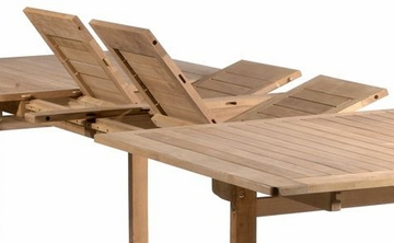 Teak Rectangular Table with Double Extension - Antonini Outdoor - NT01000