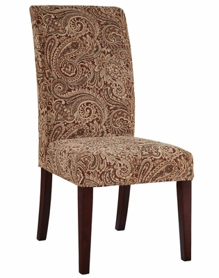 Teak, Scarlet and Green Paisley Tapestry