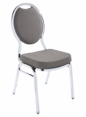 Tear Drop Back Banquet Stack Chair (Set of 4) - National Public Seating - 9500-CR-SET