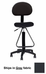 Technical Multi-Task Stool in Gray - Mayline Office Furniture - 2610066