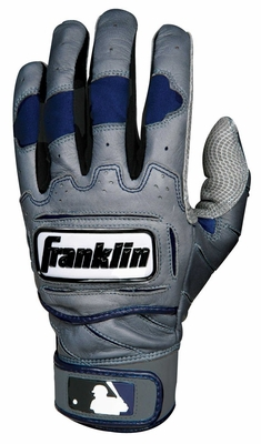 TECTONIC PRO Batting Glove Gray / Navy Youth - Franklin Sports
