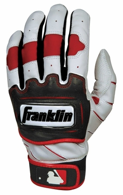 TECTONIC PRO Batting Glove Pearl / Red Youth - Franklin Sports