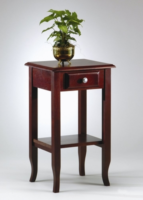Telephone Table with Drawer in Merlot - Office Star - ME04