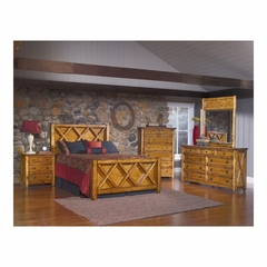 Telluride 5 Piece Wood Bedroom Set Weathered Pine - Largo - LARGO-WG-B9561-SET