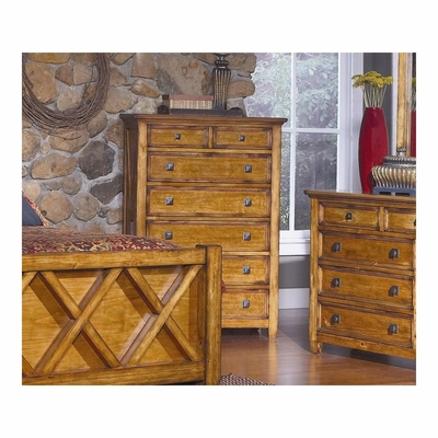 Telluride 6 Drawer Chest Weathered Pine - Largo - LARGO-ST-B9561-30