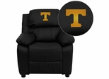 Tennessee Volunteers Embroidered Black Leather Kids Recliner - BT-7985-KID-BK-LEA-40005-EMB-GG