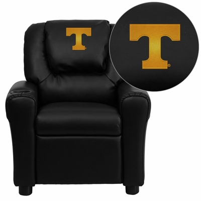 Tennessee Volunteers Embroidered Black Vinyl Kids Recliner - DG-ULT-KID-BK-40005-EMB-GG